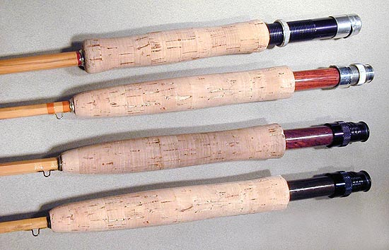how to clean cork fishing rod handles