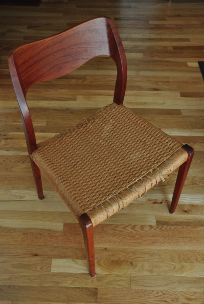 A Neils Møller Model 71 Chair With A Deteriorating Paper Cord Seat. These  Instructions For Weaving A New Cord Seat Will Also Work With Other  Mid Century ...